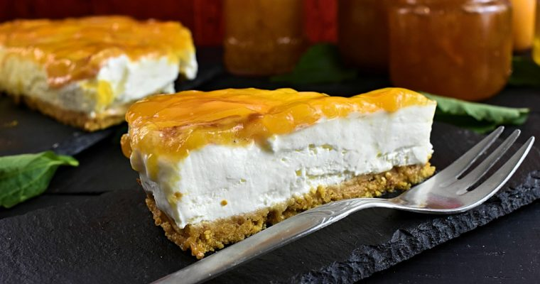 Sugar-Free Cheesecake Recipe with Apricot [No Bake]