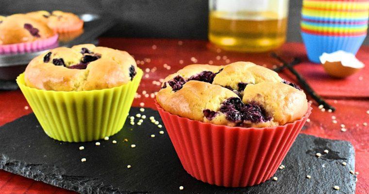 Sugar Dairy and Gluten Free Muffin Recipe with Raspberry.