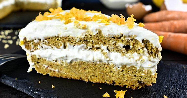 Sugar & Gluten Free Low Carb Carrot Cake Recipe
