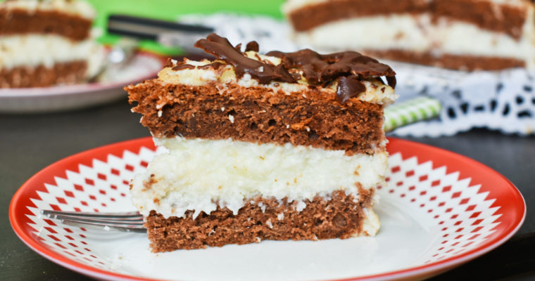 Chocolate coconut cake – Mounds cake – Bounty cake