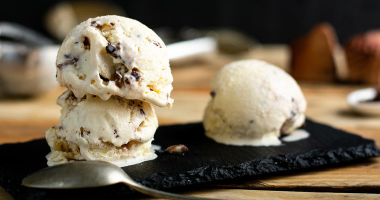 Sugar Free Vanilla Ice Cream Recipe with Chocolate Chips