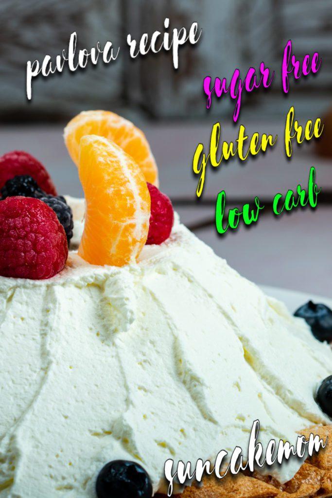 Pavlova-recipe-keto-Pinterest-SunCakeMom