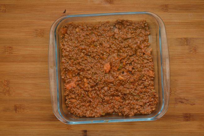 Ground meat tomato casserole dish - SunCakeMom