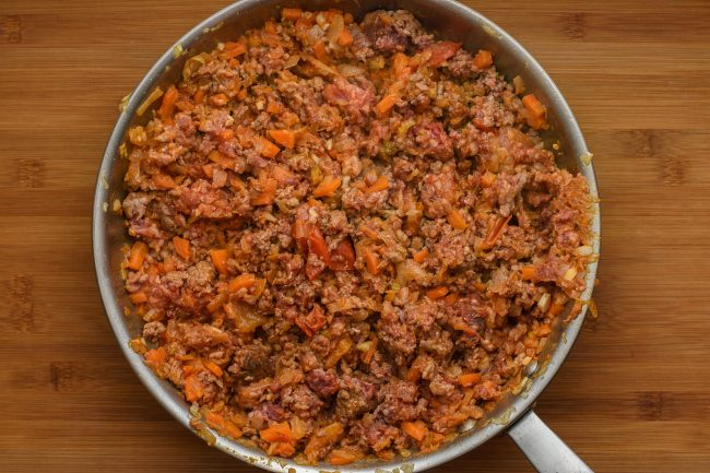 Mirepoix-paprika-tomato-ground-meat SunCakeMom